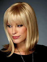 cheap -Human Hair Wig Straight Short Hairstyles 2020 Straight Capless Strawberry Blonde / Bleach Blonde Auburn Brown / Bleach Blonde Dark Brown