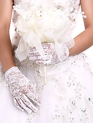 cheap -Lace / Cotton Wrist Length Glove Charm / Stylish / Bridal Gloves With Embroidery / Solid