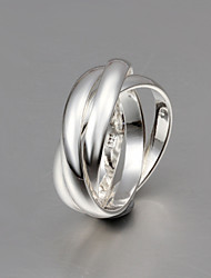 cheap -Band Ring Russian Wedding Ring Silver Sterling Silver Silver Fashion 6 7 8 9 / Men's / Women's