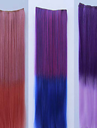 cheap -Tape In Ponytails Synthetic Hair Hair Piece Hair Extension Straight