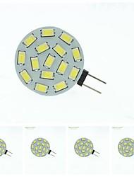 cheap -LED Spotlight 700-900 lm G4 MR11 15 LED Beads SMD 5630 Dimmable Warm White Natural White 12 V 24 V 9-30 V / 5 pcs / RoHS