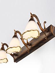cheap -LED 3-Lights Vanity Light Mirror Lamp 46cm 9W Retro Rustic Vintage Wall Light Iron Matte Glass Shade for Hallway Bathroom IP67