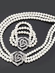 Недорогие -Жен. Прозрачный Белый Комплект ювелирных изделий - Искусственный жемчуг Включают Белый Назначение Свадьба Для вечеринок Особые случаи