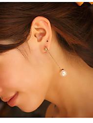 cheap -Women's Pearl Drop Earrings - Imitation Pearl Fashion Cream For Daily