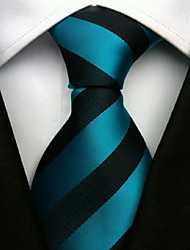 cheap -Men Wedding Cocktail Necktie At Work Blue Black Color Tie