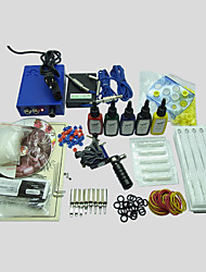 cheap -BaseKey Tattoo Machine Starter Kit, 1 pcs Tattoo Machines with 7 x 15 ml tattoo inks - 1 steel machine liner & shader