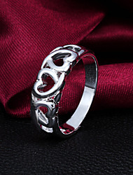 cheap -Men's Women's Band Ring Silver Sterling Silver Silver Plated Silver Heart Wedding Party Jewelry