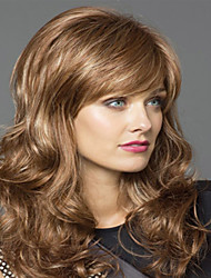 cheap -Synthetic Wig Wavy Wavy Wig Blonde Medium Length Blonde Synthetic Hair Women's Blonde