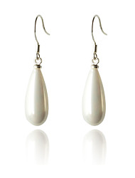 cheap -Women's Pearl Drop Earrings Drop Ladies Fashion Pearl Silver Plated Earrings Jewelry White For Party Daily Casual