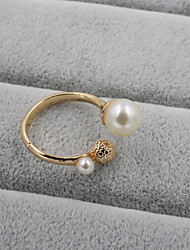cheap -Women's Band Ring thumb ring Pearl Rhinestone Enamel Open Wedding Party Jewelry Adjustable / Alloy