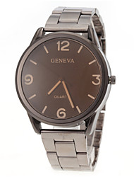 cheap -Men's Wrist Watch Quartz Stainless Steel Silver Casual Watch Analog Charm Simple watch - Red Blue Khaki