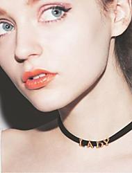 Недорогие -Жен. Ожерелья-бархатки Дамы Первоначальные ювелирные изделия Сплав Цвет экрана Ожерелье Бижутерия Назначение