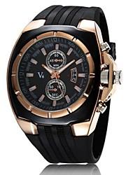 Недорогие -V6 Муж. Армейские часы Наручные часы Морские часы с печатью Кварцевый Японский кварц Pезина Черный Повседневные часы Аналоговый Кулоны - Белый Черный Два года Срок службы батареи / Mitsubishi LR626