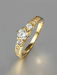 cheap -Band Ring Golden Gold Plated Fashion 6 7 8 9 / Women's / Zircon
