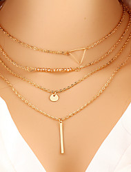 cheap -Women's Layered Necklace Ladies Fashion Gold Necklace Jewelry For Special Occasion Birthday Gift