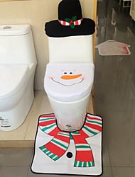 Недорогие -2 015 горячая 1lot фантазии Санта крышка унитаза и ковер ванной установлен контур ковер рождественские украшения