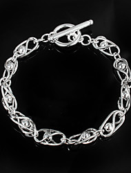 cheap -Women's Cubic Zirconia Chain Bracelet Sterling Silver Bracelet Jewelry Silver For Christmas Gifts Wedding Party Daily Casual