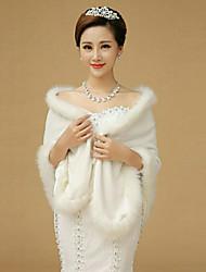 cheap -Sleeveless Shawls Imitation Cashmere Wedding / Party Evening Wedding  Wraps / Fur Wraps / Shawls With