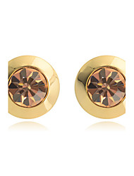 cheap -Women's Crystal Stud Earrings Crystal Gold Plated Earrings Jewelry White / Champagne For Party Daily Casual