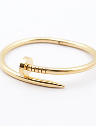 cheap -Women's Bracelet Bangles Classic Fashion Stainless Steel Bracelet Jewelry Silver / Rose / Golden For Christmas Gifts Wedding Party Daily Casual / Gold Plated