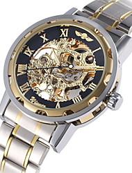 Недорогие -WINNER Муж. Модные часы Нарядные часы Часы со скелетом Механические, с ручным заводом С автоподзаводом Разноцветный 30 m Светящийся Крупный циферблат Аналоговый Роскошь Классика На каждый день Винтаж