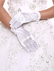 cheap -Spandex / Polyester Wrist Length Glove Classical / Bridal Gloves / Party / Evening Gloves With Solid