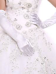 cheap -Spandex Opera Length Glove Bridal Gloves / Party / Evening Gloves With Rhinestone
