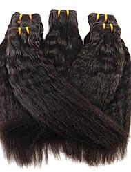 cheap -1 Bundle Brazilian Hair Yaki Straight Virgin Human Hair Natural Color Hair Weaves / Hair Bulk 8-28 inch Human Hair Weaves Human Hair Extensions / 10A