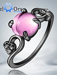 Недорогие -Жен. Кольцо Цирконий Розовый Цвет экрана Цирконий Мода Для вечеринок Бижутерия