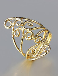 cheap -Women's Band Ring thumb ring Golden 18K Gold Plated Gold Plated Unusual Unique Design Fashion Wedding Party Jewelry