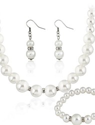 cheap -Women's Clear Jewelry Set Earrings Jewelry White For Party Gift Wedding Party / Necklace