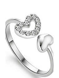 cheap -Band Ring Silver Sterling Silver Heart / Women's