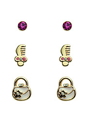 cheap -Women's Crystal Stud Earrings Crystal Gold Plated Earrings Jewelry White For Party Daily Casual