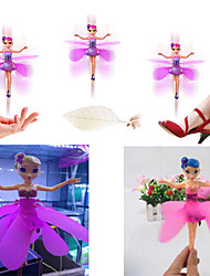 cheap -USB Rechargeable Xmas Gift Flying Fairy Doll Infrared Induction Control dolls Fly Toy(Random Color)