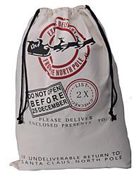 cheap -Christmas Gift Bags 2015 New 10pcs/lot Large Canvas Santa Sack Color Elk Organic Heavy Canvas Red drawstring Bag W085