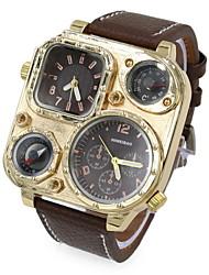 cheap -Men's Wrist Watch Quartz Leather Black / Blue / Brown Dual Time Zones Analog Blue Black / White Black Two Years Battery Life / SOXEY SR626SW