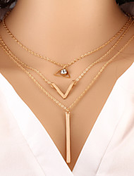 cheap -Women's Y Necklace Layered Necklace Bar Dainty Ladies Fashion Gold Necklace Jewelry For Special Occasion Birthday Gift