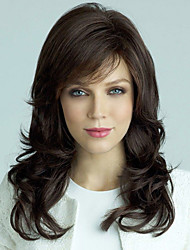 cheap -Human Hair Wig Wavy Wavy Capless Dark Brown / Dark Auburn Beige Blonde / Bleach Blonde Dark Brown