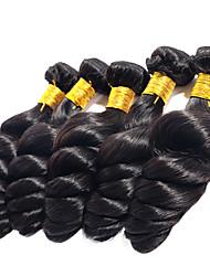 Недорогие -5 Связок Бразильские волосы Свободные волны Натуральные волосы 100 g Человека ткет Волосы Ткет человеческих волос Расширения человеческих волос