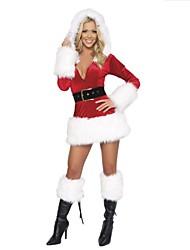 cheap -Extravagant Polyester Performance Sexy  Women's Christmas Costume(dress+belt)