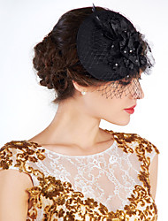 cheap -Crystal / Feather / Fabric Tiaras / Flowers / Hats with 1 Wedding / Special Occasion / Party / Evening Headpiece