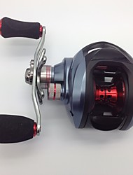 cheap -Baitcasting Reel 6.3:1 Gear Ratio+10 Ball Bearings Left-handed Bait Casting - DW1000 Left