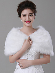 cheap -Sleeveless Faux Fur Wedding Wedding  Wraps With Feathers / Fur Capelets