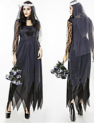 cheap -The Corpse Bride Wedding Witch Of Hell Female The Ghost Vampire Halloween Party Dress Uniform COSPLAY