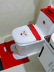 cheap -2015 Hot 1Lot Fancy Santa Toilet Seat Cover and Rug Bathroom Set Contour Rug Christmas Decorations