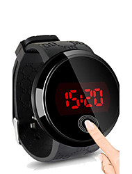 cheap -Men's Wrist Watch Digital Watch Digital Silicone Black Water Resistant / Waterproof Touch Screen Creative Digital Simple watch - Black Black / White White / Silver Two Years Battery Life / LED