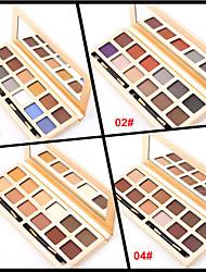 cheap -12 Colors Eyeshadow Palette Powders Matte Eye Matte Shimmer Glitter Shine smoky Coloured gloss Long Lasting Natural Daily Makeup Smokey Makeup Cosmetic Gift