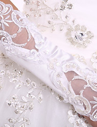 cheap -Spandex Fabric Elbow Length Glove Luxury / Bridal Gloves With Pearl / Sequin / Embroidery