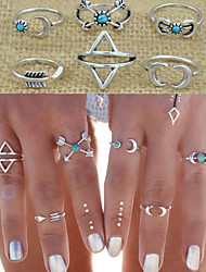 cheap -Jewelry Set Halo Silver Alloy Love Statement Ladies Personalized 6pcs One Size / Women's / Knuckle Ring / Rings Set