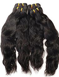 cheap -Brazilian Hair Natural Wave 8A Natural Color Hair Weaves / Hair Bulk Human Hair Weaves Human Hair Extensions
